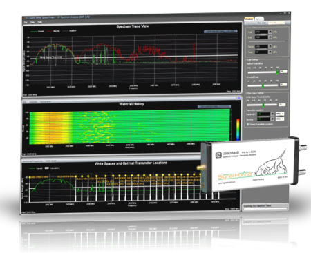 Pro Audio White Space Finder / RF Spectrum Analyzer